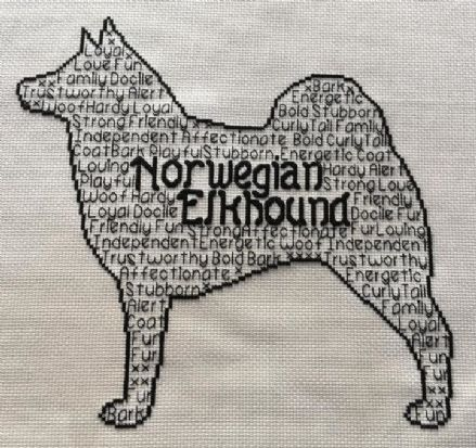 Norwegian Elkhound In Words